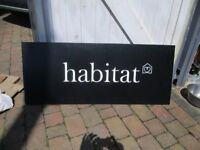 Genuine Habitat shop sign