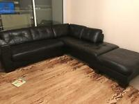 Sofa swap. Brown Leather corner sofa