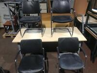 Leather & Chrome Conference Chairs