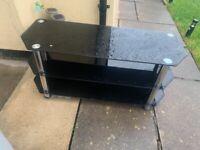 Free Dark Glass TV Stand.
