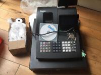 SAM4S Cash Register NR-510F with box of thermal till rolls