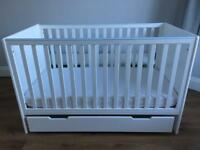 Mamas And Papas Yale Cot Toddler Bed With Mattress