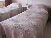 Two bed covers for single beds