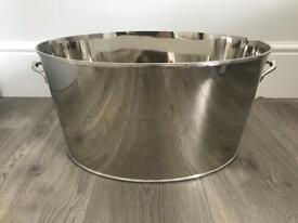 Nickel Oval Champagne Cooler