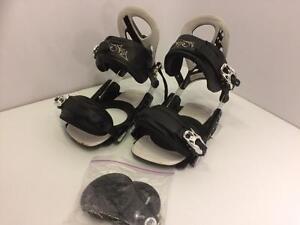 Firefly snowboard bindings, size men's M 8 - 10, aluminum heel frame