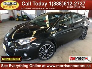 2016 Toyota Corolla S, Leather, Nav, Sunroof!