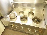 Chinese Wok Cooker 5 Burner VGC Complete Refurbished