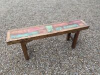 Coloured Wooden Bench (Very Solid)