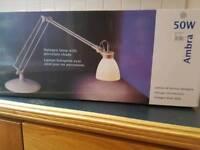 Lamp (desk) - stylish with porcelain shade