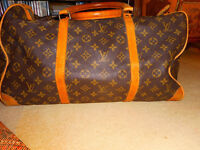 Auth Vintage Louis Vuitton travel bag