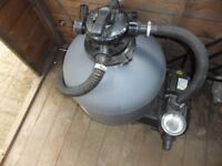Sand filter for pond or pool