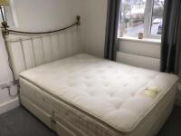 Relyon pocket sprung king size bed with memory foam mattress