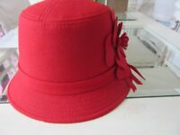 1920's Red Cloche Hat, Brand New with Tags