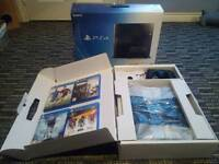 Playstation 4 500gb boxed with 4 games