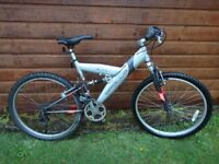 "Apollo Creed bike 26"" wheels, 18 gears, 18"" aluminium frame full suspension working order"