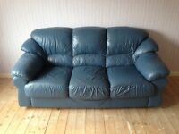 3 Piece Leather Suite (3 seater sofa + 2 armchairs)