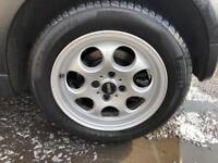 Mini 4x100 4 x 100 Pepperpot Alloys. Alloy Wheels. Excellent tyres