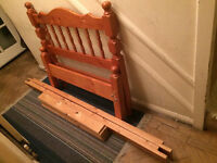 Quality Solid Pinewood Single Bed Frame Only For Sale