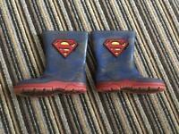 Superman wellies size 6 (child)