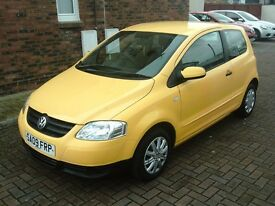 2009 09 VOLKSWAGEN FOX 1.2 3DR ** MOT JUNE 2018 ** BRIGHT YELLOW **
