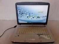 15.4'' ACER Aspire 5720 Laptop: *Core2Duo 2.20 GHz *160GB *3GB *WiFi *Windows 10 Pro *Office2016Pro