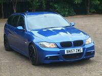 2008 BMW 320D M SPORT TOURING ONE OFF CUSTOM 2012 335D LCI REPLICA ESTORIL BLUE HEATED SEATS XENONS