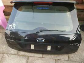 Fiesta Zetec S Boot and spoiler