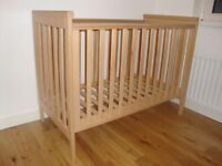 Mamas and papas cot bed for sale