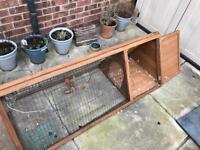 Rabbit hutch/Run with rain cover for sale