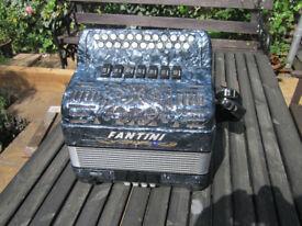 Fantini 2 Row B/C Button Accordion fully refurbished