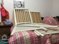 Classic White Wooden Baby Cot Bed