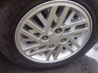 5 x xr3i 14inch mint alloy wheels with nearly new tyres