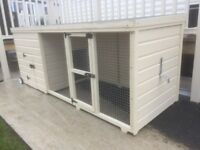 Quality custom made dog kennels and kennel and run combined