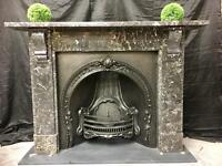 Antique Victorian Marble fireplace Surround.