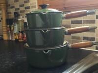 Le Creuset 3 piece saucepan set