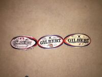 Three signed Gloucester Rugby Balls