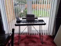 Yamaha Music Keyboard with stand and foot switch comes complete with user instructions and psu