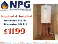 Worcester Bosch Greenstar 30i ErP Combi Boiler SUPPLIED & FITTED Fom £1199 (RRP £4K) Leicestershire