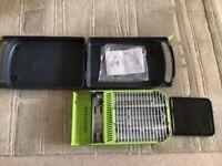 A portable gas bbq