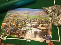 Jigsaw puzzle vintage grand national scene