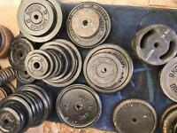 Solid cast iron gym weights - Dumbells - long bar - ez bar - d Bar Sets