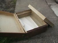 job lot of 2 cabin steamer trunks pine bound vintage trunks £39