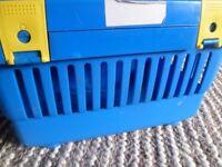 plastic secure cat basket for taking pet to vet etc