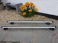Lockable Thule Aero Roof Bars 869 for Audi A3 2004-2012 roof rails. May fit other cars.