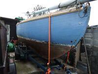 classic sailing boat debben 4 tonner