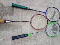 Badminton Elite Rackets Job Lot x3