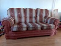 Sofa set. Three and two seater sofa with foot stool