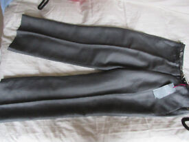 Per Una grey linen blend wide leg ladies trousers. Brand NEW with lables. Size 14 Medium
