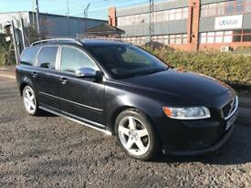 ***VOLVO V50 2.0 D R-DESIGN FULL SERV HISTORY+TWO TONE LEATHER+DRIVES SUPERB+PRIVACY GLASS***£3890
