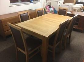 Solid oak extending dining table & chairs * free furniture delivery*